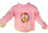 FLOWER PEACE SIGN SWEATER